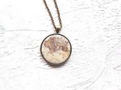 World map with compass necklace world necklace vintage world map world necklace world map necklace map necklace travel the world necklace map of the world europe map jewelry gift for her gumiabroncs Choice Image