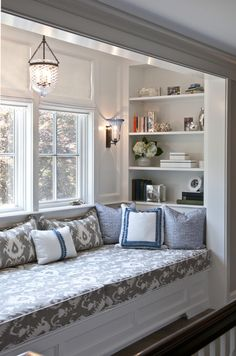 Extend the sides of the wall out into the room to allow a built-in bench in the second bedroom