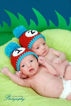 If I ever have twins! haha.   PATTERN Thing 1 & Thing 2 Dr. Seuss Hats - Crochet. $3.75, via Etsy.