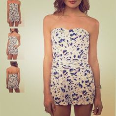 Urban Outfitters Strapless Romper