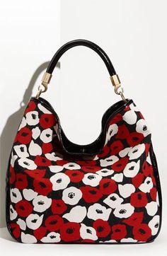 Yves Saint Laurent 'Roady Poppy Print Large Hobo Bag