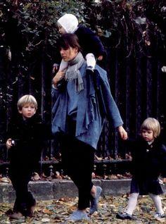 Caroline in Paris with her children