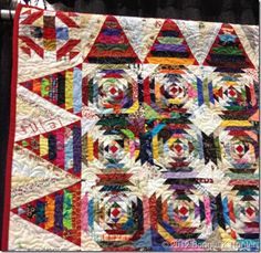 Pineapple Crazy Quilt at QUiltville's Quips and Snips.