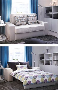 US Furniture and Home Furnishings Guest bedroom office, Guest room office, Murphy bed ikea Bedroom Couch Ideas Little Sofa Bed Mini Couche. Spare Bedroom Office, Office Sofa, Office With Couch, Living Room Furniture, Home Furniture, Office Furniture, Living Rooms, Murphy-bett Ikea, Nooks