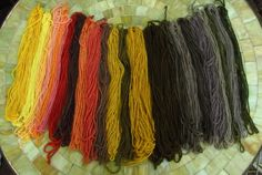 Mushroom-dyed yarn - it's well worth looking at the website explaining mycopigments - http://mycopigments.com