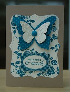 You Are Loved butterfly card by Julie's Japes - An Independent Stampin' Up! Demonstrator in the UK: You are Loved