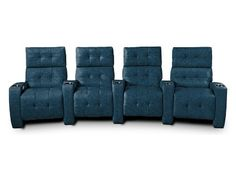 Add some color to your home theatre! Glamorous style combines with inviting comfort to create the Dean collection. With expertly tufted seats and backs, the Dean home theatre seating system invites you to lean back and enjoy a few movies or a long afternoon of football.