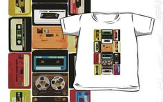 "{for E} ~ ""Retro Audio Cassette Tapes"" Kids Clothes by HighDesign 