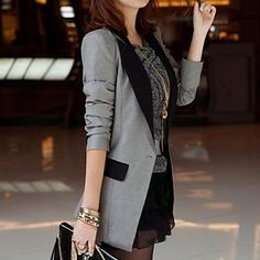 An updated tuxedo blazer.  Perfect for work or lunch with the girls <3
