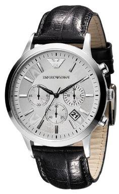 Sale Preis: Emporio Armani Herren-Armbanduhr XL Chronograph Quarz Leder AR2432. Gutscheine & Coole Geschenke für Frauen, Männer & Freunde. Kaufen auf http://coolegeschenkideen.de/emporio-armani-herren-armbanduhr-xl-chronograph-quarz-leder-ar2432  #Geschenke #Weihnachtsgeschenke #Geschenkideen #Geburtstagsgeschenk #Amazon