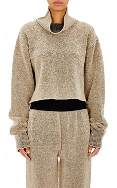 Adidas Originals by Kanye West Yeezy Season 1 Crop Boucle Turtleneck Sweater