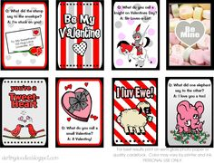 Valentines Lunch Box Notes - Darling Doodles | Darling Doodles