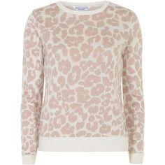 Dorothy Perkins Blush leopard print jumper