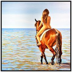 ".  Artist: Pascual Rudas  Expo: ""Al vaivén de las Olas""  Gallery: @artistryandco .  #panama #panamaart #artepanama #artepty #pma #pty #arte #art #artistryandco #pascualrudas #fantasy #surrealism #paint #artesplasticas #pintura #artlover #artcollector #contemporaryart #horse #swim #ocean #women #beachlife #latam #latinartist #travel #luxury #jetset #artbuyer #wanderlust"