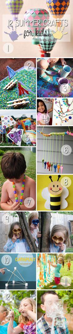 12 Summer Crafts for Kids