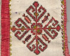 Bulgarian embroidery in detail