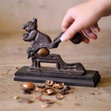 Cast Iron Nut Cracker - Squirrel    $18.00 @ http://www.antiquefarmhouse.com/current-sale-events/warehouse-vintage.html