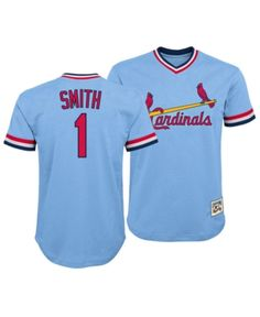 9c573d7b3a4 Outerstuff Ozzie Smith St. Louis Cardinals Mesh V-Neck Player Top, Big Boys