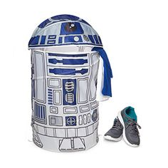 R2-D2 holds all sorts of things - holographic messages, lightsabers, and now your stinky laundry. (He's a droid. He doesn't mind.) This Star Wars R2-D2 Laundry Hamper is a ThinkGeek creation & exclusive.