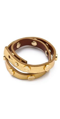 Love the Tory Burch Double Wrap Logo Bracelet on Wantering | womens bracelet | womens jewelry | double wrap logo bracelet | fashion | trends | style | wantering http://www.wantering.com/womens-clothing-item/double-wrap-logo-bracelet/ay03Umuh/