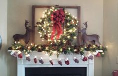My Christmas mantle Have a wonderful day!