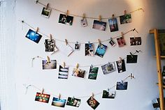 easy of displaying postcards + photographs