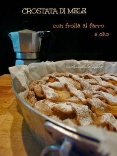 Questa crostata di mele con pasta frolla al farro e olio  è fatta con la farina di Farro Filosi...