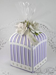 IC376 Bird Cage favor Box by Arizona Maine - Cards and Paper Crafts at Splitcoaststampers