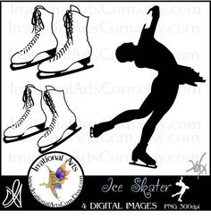 Ice Skater and skates Silhouettes Digital by IrrationalArts, $3.00 Ice Skaters, Olympic Sports, Skates, Banquet, Digital Image, Silhouettes, Olympics, Harvest, Cricut
