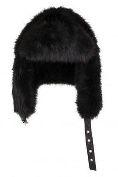 Supertrash   Harriet karvalakki, musta Winter Wonderland, Winter Hats, Fashion, Moda, Fasion, Fashion Illustrations, Fashion Models