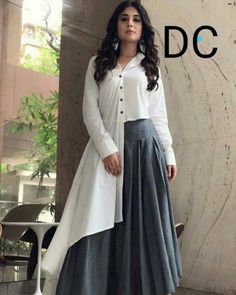 Image may contain: 1 person, standing Indian Designer Outfits, Indian Outfits, Designer Dresses, Hijab Fashion, Fashion Dresses, Indian Gowns Dresses, Mode Hijab, Stylish Dresses, Dress Patterns