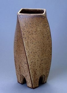 Items Similar To Wheel Thrown And Altered Square Ikebana / Flower Vase By  HsinChuen Lin On Etsy