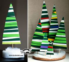 Christmas Is Coming : Use colored paper and glue to make this crazy fir tree