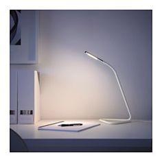 IKEA - HÅRTE, Lampe de bureau à LED, noir/couleur argent, , Peut se brancher aussi bien sur le port USB de votre ordinateur que sur une prise ordinaire, ce qui permet de l