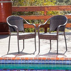 Contemporary Sunset Patio Outdoor Wicker Dining Chairs Set of 2 Stackable & Already Fully Assembled Sunset Patio http://www.amazon.com/dp/B00R3A3NFO/ref=cm_sw_r_pi_dp_KfN5vb037CRQS