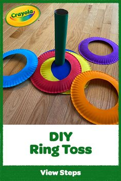 Ring it on! This easy paper plate craft at home makes a DIY ring toss game for kids using Crayola supplies and items you already have on hand. games for kids Diy Party Games, Diy Games, Diy Home Crafts, Fun Crafts, Projects For Kids, Diy For Kids, Carnival Crafts, Spongebob Birthday Party, Paper Plate Crafts For Kids