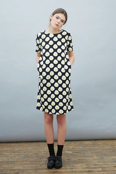 egg print dress by the white pepper