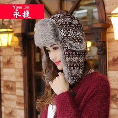 Korean Knitting Light Snow Flower Lei Feng's Hat Men's And Women's Autumn/Winter Outdoor Thermal Protective Ear Hat