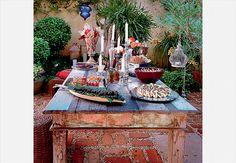 Na mesa muitas delicias...