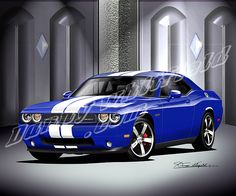 2011 DODGE CHALLENGER SRT8 392 (Dark blue)