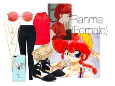 """Ranma (Female)"" by savvi-ray on Polyvore featuring Ashley Stewart, Charlotte Russe, Apt. 9, Casetify and BERRICLE"