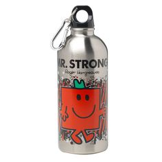 The Mr. Strong Water Bottle features one of the curious characters from Roger Hargreaves' Mr. Men series. Buy the right bottle to match your personality and tote it around with you all day.