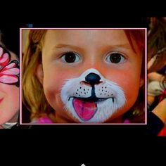 A cute kids face paint