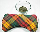 Great Christmas gift! Neon plaid, Hangover relief peppermint and flax seed eye pillow, Aromatherapy eye pillow, flax eye pillow, flax heating pad, microwave eye pillow, nausea relief, energizing scent