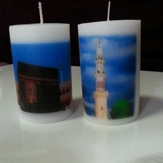 2x3 inch candles in sets of 2s Personalized Candles, Pillar Candles, Candles