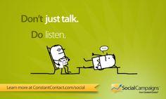 Fanbruary Tip 26: Don't just talk. Do listen.