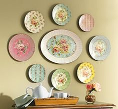 .I have several antique plates. this would be a lovely way to display them.