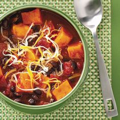 Sweet Potato & Black Bean Chili Recipe | Taste of Home