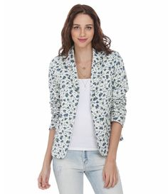 Blazer Feminino Floral em Veludo - Lojas Renner