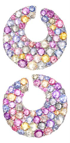 Sapphire Earrings, by Chopard, 2012 Red Carpet Collection - Haute Tramp